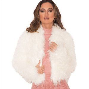 House of CB White Faux Fur Jacket NWT Size XS